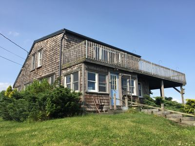Photo for Water front private beach  Scandinavian style house near Bellport, NY