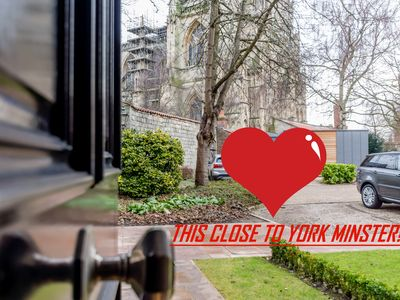 Photo for Wow! 3 storey townhouse with York Minster facing you!