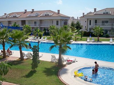 Photo for Belek Luxury Golf Village 2+1 Ground Floor Holiday Villa Apartments, Pool View