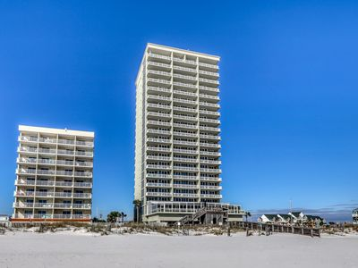 Photo for Luxe condo overlooking the Gulf w/ balcony & resort pool, hot tub, gym!