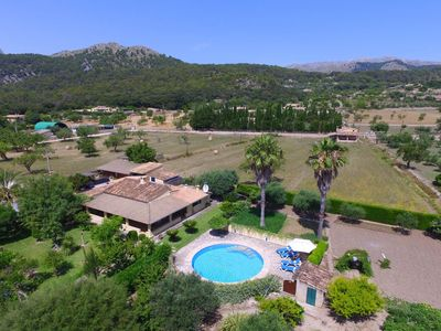 Photo for Quiet and rustic finca-Garden, pool, terrace, AC, WIFI, TV, BBQ