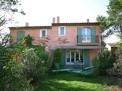Photo for Beautiful holiday home located next to the golf course of Saint-Endréol