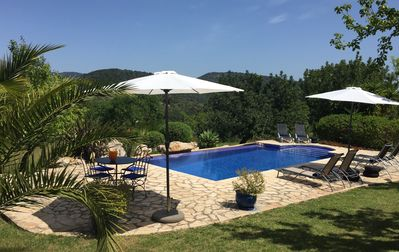 Private pool with views to the Tramontana mountains