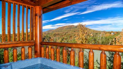 Enjoy the beautiful view from the hot tub!