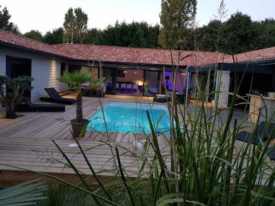 Photo for Modern house with swimming pools at SOUSTONS lake