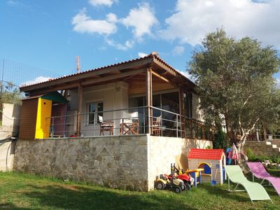 Photo for ELVAGO House 70 m2 for summer vacations near the sea with 450 m2 flat lawn