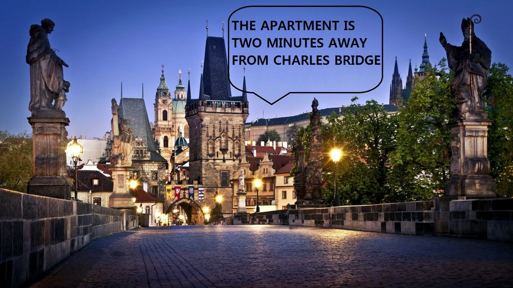 STEPS AWAY FROM CHARLES BRIDGE - LUXURY FLAT WITH A ROMANTIC BALCONY
