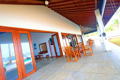 Large Veranda For Relaxing or Partying