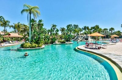 SW Florida's Largest Pool.  11,000 sq ft. with waterfalls and lush landscape.