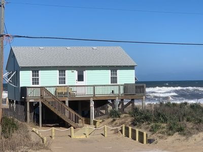 Photo for COMPLETELY RENOVATED-1960's Cozy Ocean-Front cottage, Family & Fido Friendly!