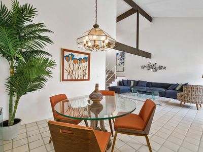Photo for Mid Century getaway! 1/2 Block from El Paseo shops and restaurants!  Sparkling Pool & spa!