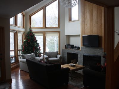 Photo for Ski On - Ski Off Condo on Loon Mtn - 3 Bedroom w/ Den - Hot Tub & Fireplace