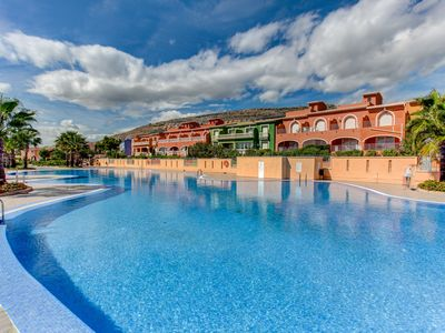 Photo for Apartment La Paz in Cumbre Del Sol, sleeps 5, offers aircon, TV, swimming pool