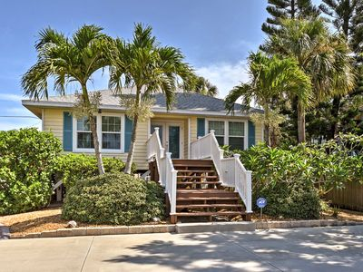 Photo for Charming Home w/ Deck - Walk to Indian Rocks Beach