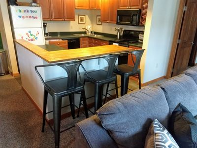 Photo for Wonderfully convenient ski-in/ski-out 2 bedroom condo at Zephyr Mountain Lodge