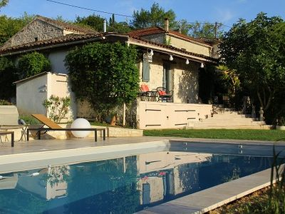 Photo for Quercy Blanc stone house renovated with taste, near Montcuq, 8 pers.