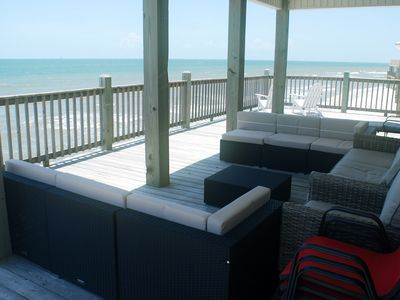 Photo for Right.on.the.gulf! Fish from the deck! Beautiful home