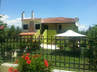 Photo for 240sqm cottage on 5000sqm olive grove,  privacy, biological garden,relaxation