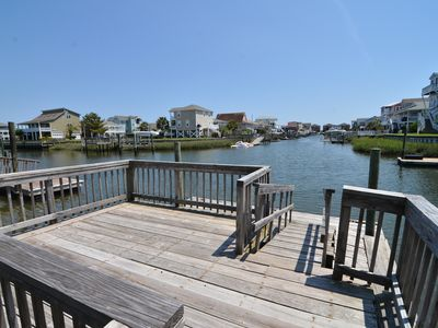 Photo for Lovely canal house in Holden Beach, NC with beautiful views of waterway!