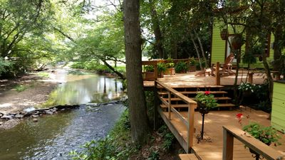 Photo for Pebble Creek 23acrs Magical Retreat Laurel Fork Stream-Sleep 16 Weddings/Reunion