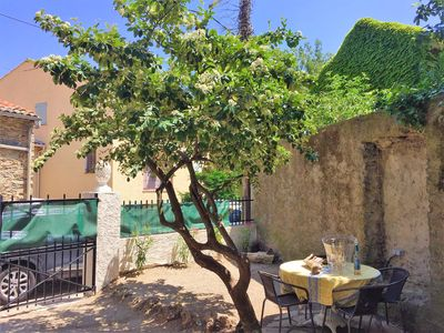 Photo for Charming two bed village house with garden in the village of La Garde Freinet.