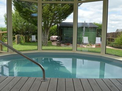 Photo for Charming cottage in Anjou, spa pool 32 ° C under veranda reserved to the tenant.