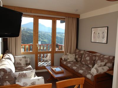 Photo for Belle Plagne, Le Blanchet, Callisto Residence, ski-in ski-out, panoramic view