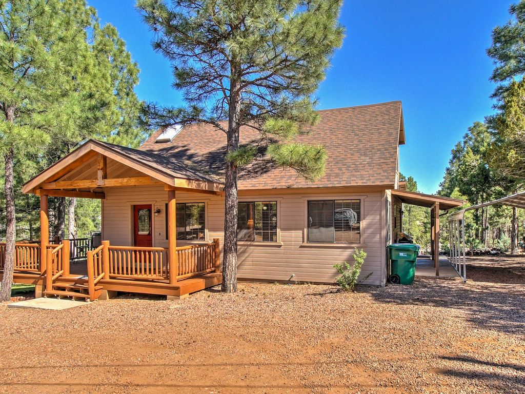 New 4br show low house by hiking trails homeaway for Cabin rentals near hiking trails