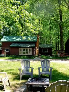 Photo for 3 BR CABIN w/ loft & full kitchen, near Manistee & Ludington, hike, ski, relax