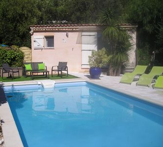 Photo for PROVENCE / Var / Studio / swimming pool / garden / air conditioning / wifi