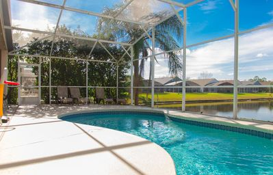 Photo for Fascinating Lake View with private pool and game-room, near Disney!!