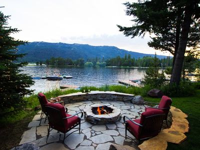 Photo for Lake house- Private Dock, Fireplace, Hottub, Firepit, Canoe, Bikes, Paddleboards