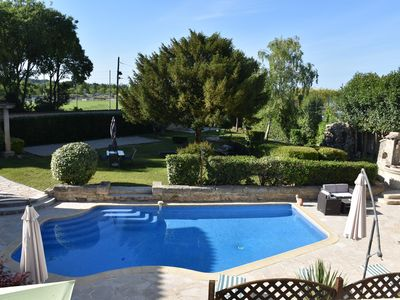 Photo for Le Gîte Mathis 105m²: air conditioning, swimming pool and garden - Sommieres