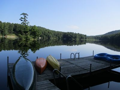 Photo for Adirondack Waterfront Cabin with Gorgeous View and Dock