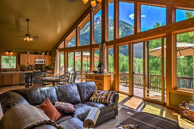 An epic view greets you at this Marble Colorado home!