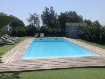 Photo for Mini air-conditioned semi-detached villa in residence of 3 villas with heated pool
