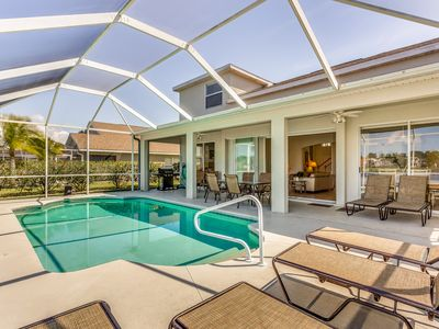 Photo for Waterfront home w/ private pool, covered patio, & lake views - close to golf!