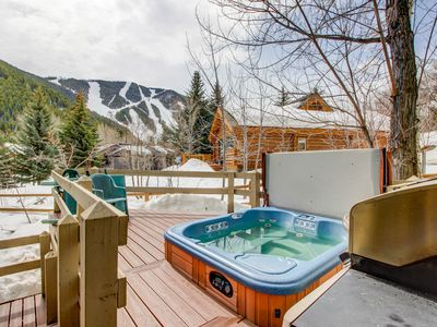 Photo for Dog-friendly lodge w/ private hot tub, mountain views, and centralized location!