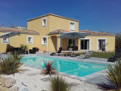 Photo for RECENT CHARMING VILLA 160 M2 POOL AND GARDEN MEDITERRANEAN