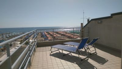 Photo for A typical beach house in the center of Viareggio with lovely view from balconies