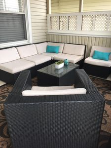 New furniture, cozy front porch for your personal enjoyment