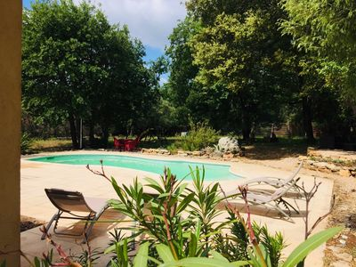 Photo for In Provence-Var superb villa of full foot with swimming pool and sported ground