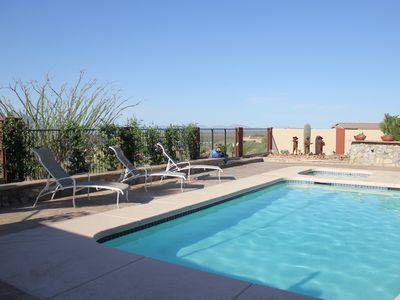 Stunning Mountain views  - private pool and hot tub