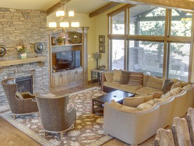 Photo for Stunning, upscale lodge w/ private hot tub, shared pool, and on-site golf