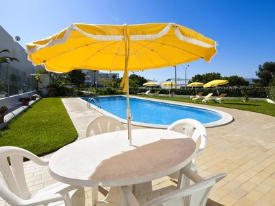 Photo for PRIVATE RESIDENCE APARTMENTS WITH SWIMMING POOL (400 M BEACH)