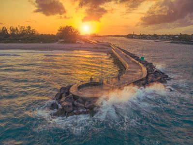 Jupiter Inlet Sunsets- this pier is just a mile away.