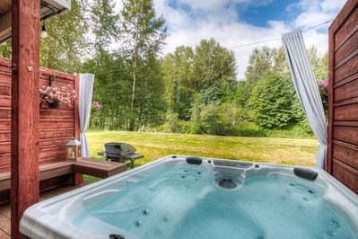 Private Hot Tub on River