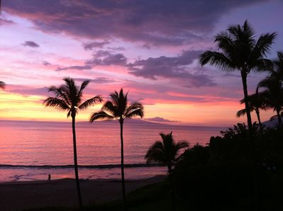 Sunset from the Lanai taken February 2011 by one of our guests.