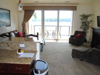 Photo for LAKEFRONT. Private Balcony. FREE Noah's Ark WATER PARK access for SUMMER!!