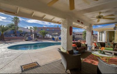 Photo for Gorgeous pool home with plenty of space for multiple families.